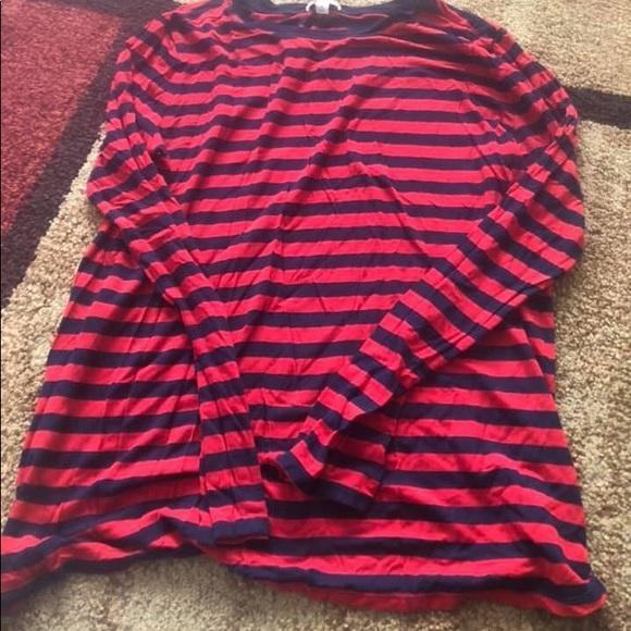 93522a32622915 GAP Tops | Long Sleeve Red And Navy Shirt Size Medium | Poshmark